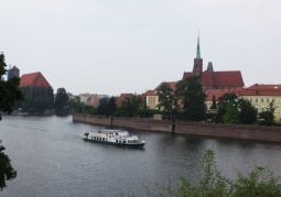 View of the Odra River from the Polish Hill