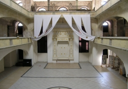 The interior of the synagogue
